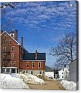 Shaker Village Road Poland Springs Maine Acrylic Print