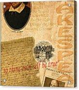 Shakespeare 2 Acrylic Print