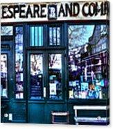 Shakespeare And Company Paris France Acrylic Print