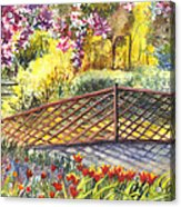 Shakespeare Garden Central Park New York City Acrylic Print by Carol Wisniewski