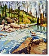 Shallow Water Rapids Acrylic Print