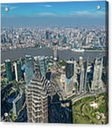 Shanghai Aerial View Over Pundong Acrylic Print
