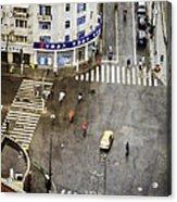 Shanghai China Big City Urban Scene From Above Acrylic Print