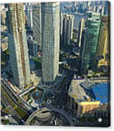 Shanghai From Above Acrylic Print