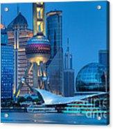 Shanghai Pudong Acrylic Print by Fototrav Print