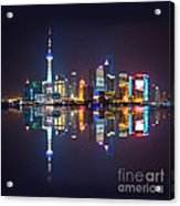 Shanghai Reflections Acrylic Print