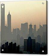 Shanghai Skyline Three Towers And Perl Acrylic Print