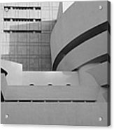 Shapes Of The Guggenheim In Black And White Acrylic Print
