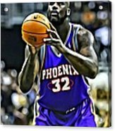 Shaquille O'neal Acrylic Print by Florian Rodarte