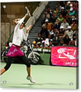 Sharapova At Qatar Open Acrylic Print by Paul Cowan