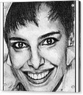 Shari Belafonte In 1985 Acrylic Print