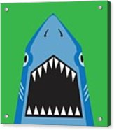 Shark Illustration, T-shirt Graphics Acrylic Print