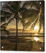 Sharks Cove Sunset 2 - Oahu Hawaii Acrylic Print