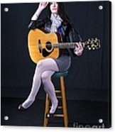 Sharon With Guitar Acrylic Print