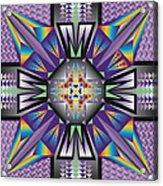 Sharp Tile Art Acrylic Print