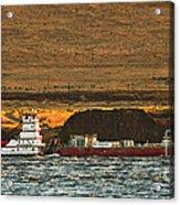 Shaver Tug On The Columbia River Acrylic Print