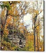 Shawee Bluff In Fall Acrylic Print