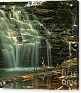 Shawnee Falls In The Spring Acrylic Print