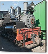 Shay Engine 12 In The Colorado Railroad Museum Acrylic Print