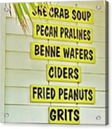 She Crab Soup And Fried Peanuts Acrylic Print