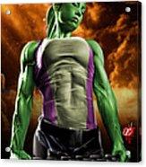 She-hulk 2 Acrylic Print by Pete Tapang