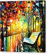 She Left... - Palette Knife Oil Painting On Canvas By Leonid Afremov Acrylic Print