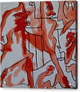 She Was Fed To Death  By Animals 2009 Acrylic Print