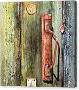 Shed Door Acrylic Print