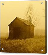 Shed In Field  Acrylic Print by Michael L Kimble