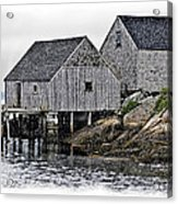 Sheds At Peggys Cove Acrylic Print