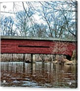 Sheeder - Hall - Covered Bridge Chester County Pa Acrylic Print