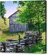 Sheep Barn Acrylic Print
