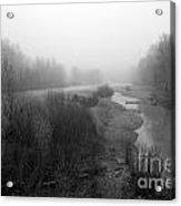 Sheep River On A Foggy Day 5 Acrylic Print