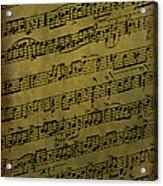 Sheet Music Acrylic Print