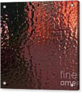 Sheet Of Solid Ice Looking Out Acrylic Print