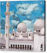 Sheikh Zayed Mosque Acrylic Print by Catf