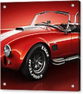 Shelby Cobra 427 - Bloodshot Acrylic Print by Marc Orphanos