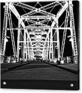 Shelby Street Bridge At Night In Nashville Acrylic Print