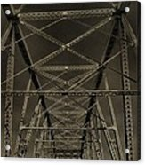 Shelby Street Bridge Details Nashville Acrylic Print