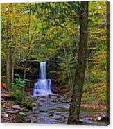 Sheldon Reynolds Falls And Kitchen Creek Acrylic Print
