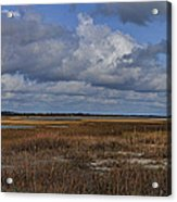 Shell Island To Figure Eight Panorama Acrylic Print