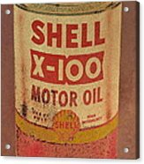 Shell Motor Oil Acrylic Print by Michelle Calkins