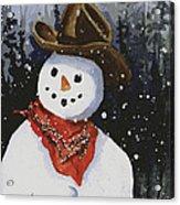 Shelly's Snowman Acrylic Print