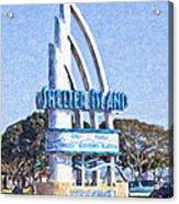 Shelter Island Sign San Diego California Usa Acrylic Print