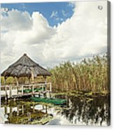 Shelter Reed On Lake Acrylic Print