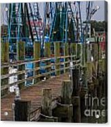 Shem Creek Pier Acrylic Print