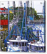Shem Creek Shrimp Boats Acrylic Print