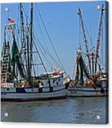 Shem Creek Shrimpers Acrylic Print