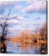 Shenandoah River In Late Autumn Acrylic Print