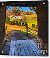 Shenandoah Virginia Covered Bridge Acrylic Print